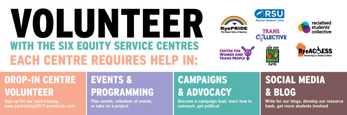 Volunteer with the Equity Service Centres